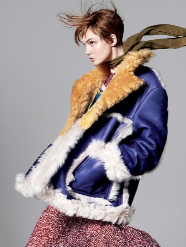 caroline003 Caroline Trentini Rocks Colorful Fall Fashions for Vogue US by David Sims