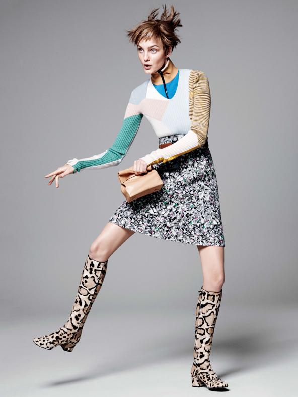 caroline004 Caroline Trentini Rocks Colorful Fall Fashions for Vogue US by David Sims