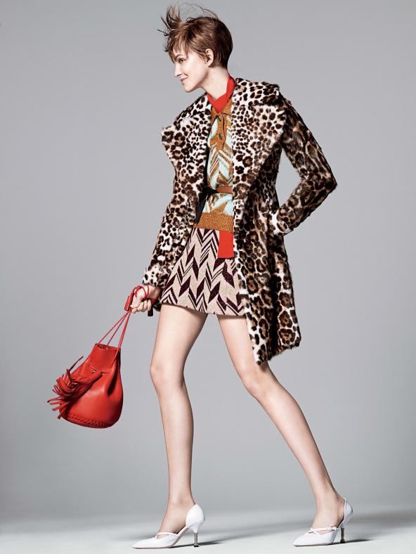 caroline005 Caroline Trentini Rocks Colorful Fall Fashions for Vogue US by David Sims