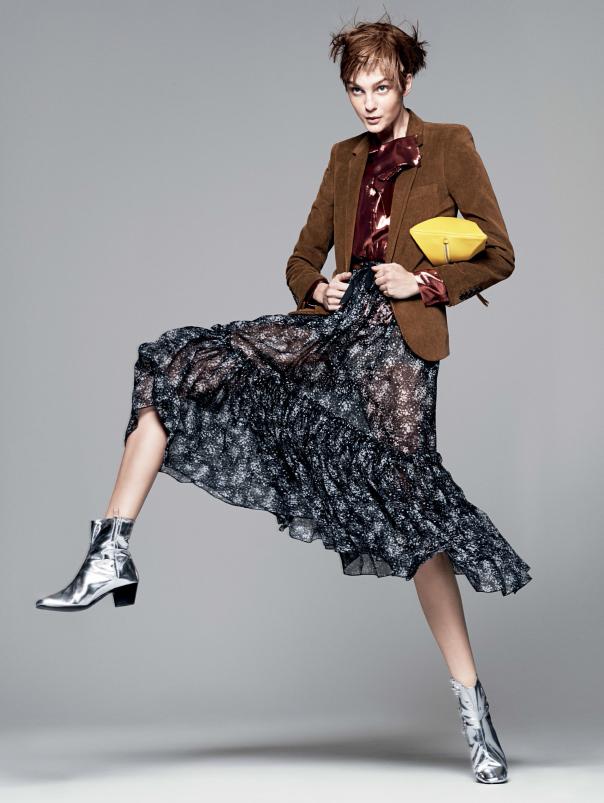 caroline007 Caroline Trentini Rocks Colorful Fall Fashions for Vogue US by David Sims