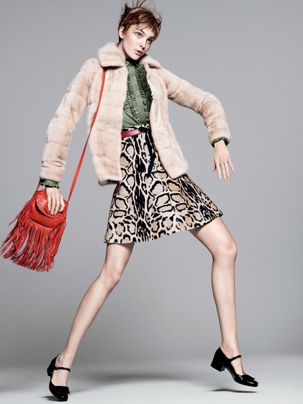 caroline008 Caroline Trentini Rocks Colorful Fall Fashions for Vogue US by David Sims