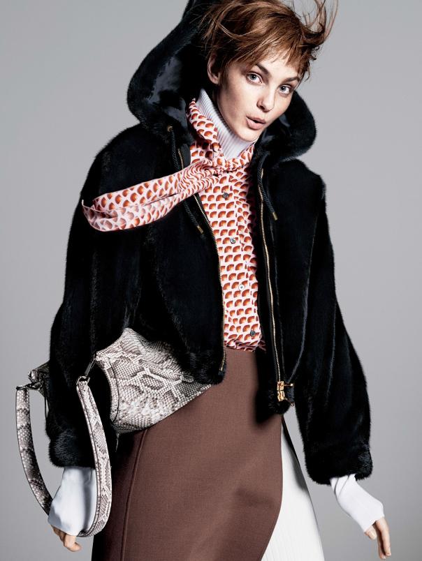 caroline009 Caroline Trentini Rocks Colorful Fall Fashions for Vogue US by David Sims