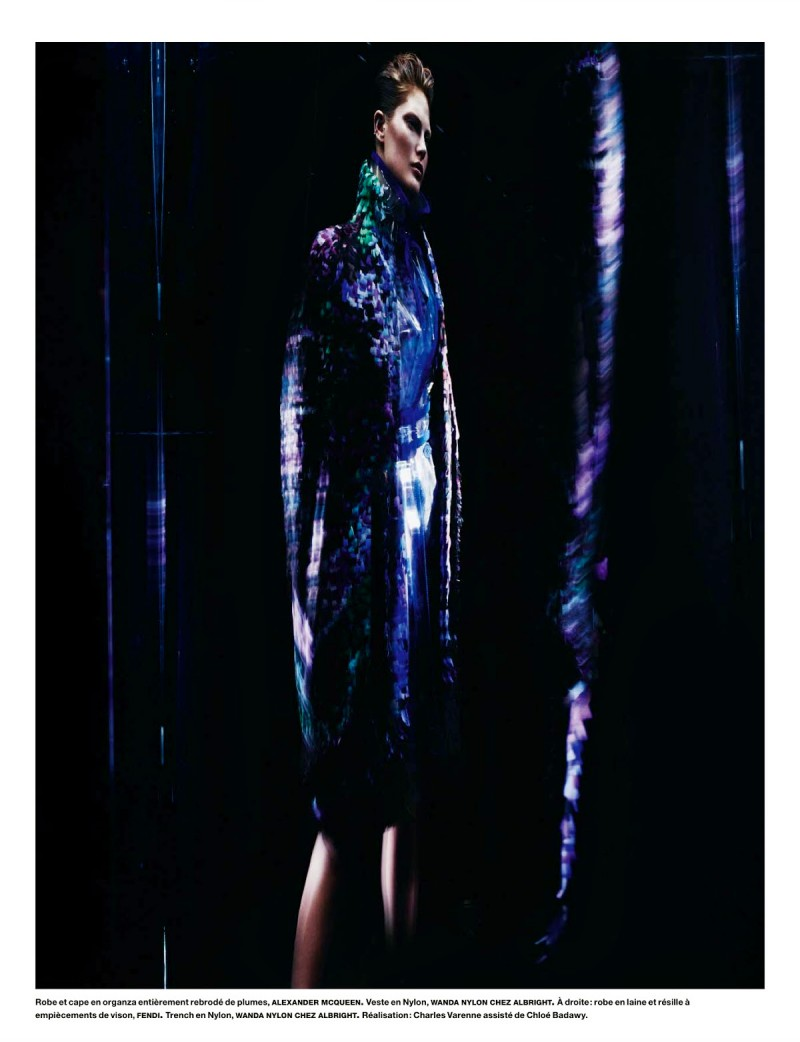 cat numero007 800x1042 Catherine McNeil Wears Futuristic Style for Numéro by Benjamin Lennox