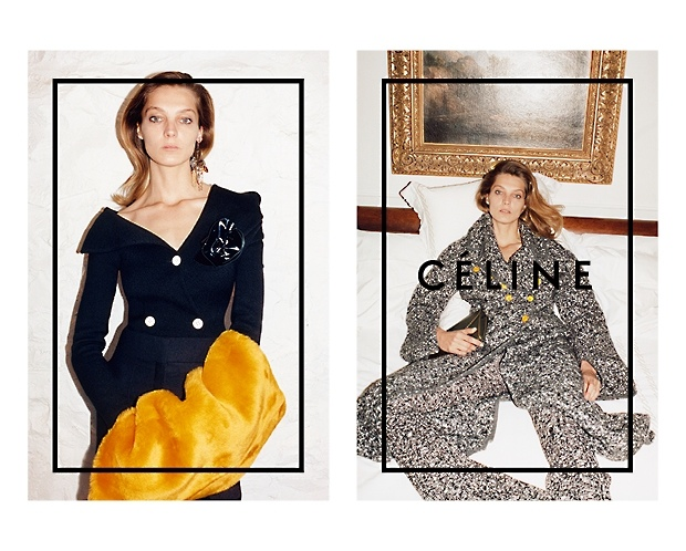 celine 2014 fall winter campaign1 Daria Werbowy Lounges for Celines Fall 2014 Ads