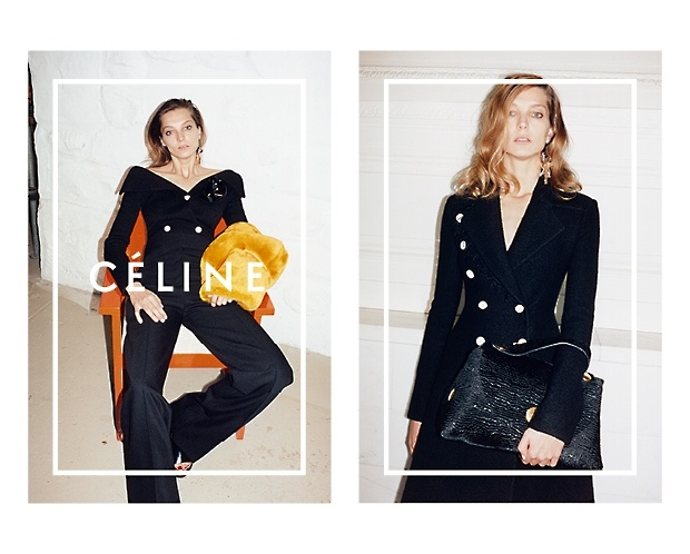 celine 2014 fall winter campaign2 Daria Werbowy Lounges for Celines Fall 2014 Ads