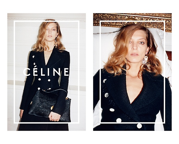 celine 2014 fall winter campaign3 Daria Werbowy Lounges for Celines Fall 2014 Ads