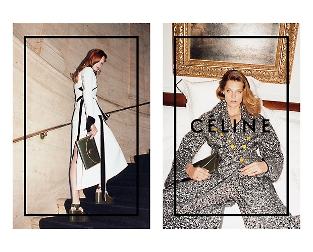 celine 2014 fall winter campaign4 Daria Werbowy Lounges for Celines Fall 2014 Ads