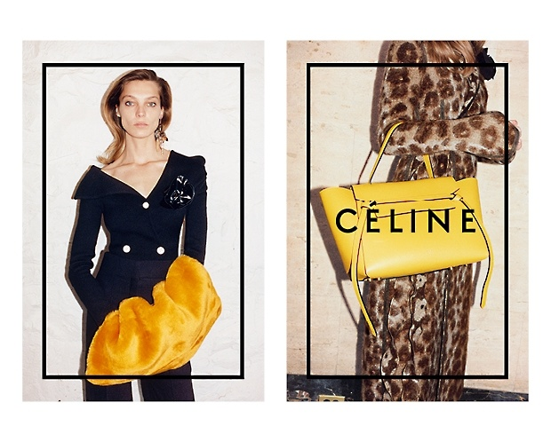 celine 2014 fall winter campaign5 Daria Werbowy Lounges for Celines Fall 2014 Ads
