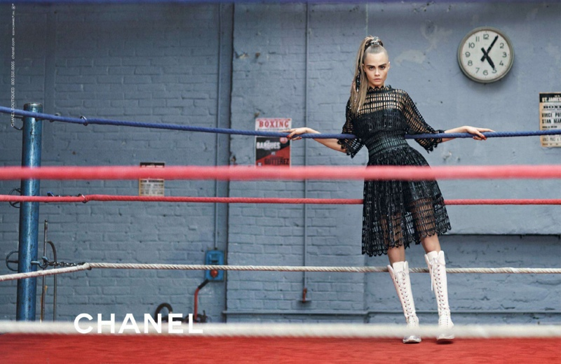 chanel 2014 fall winter campaign2 Chanel Goes Boxing for Fall 2014 Campaign with Cara Delevingne
