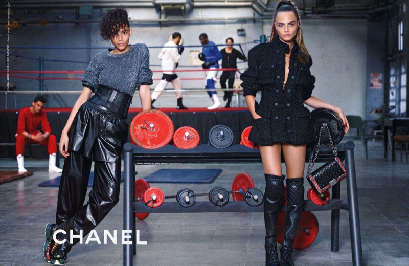chanel 2014 fall winter campaign3 Chanel Goes Boxing for Fall 2014 Campaign with Cara Delevingne