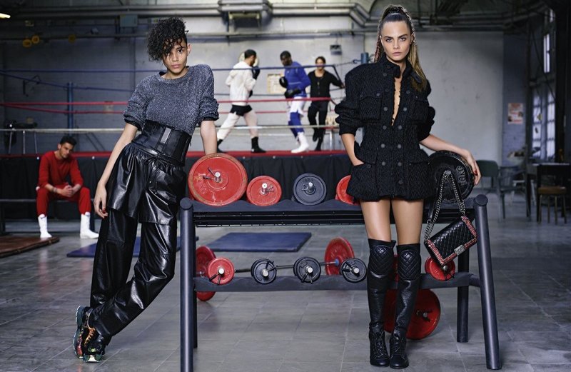 chanel fall winter 2014 ad photos cara delevingne12 More Photos From Chanel's Fall 2014 Ads with Cara Delevingne + Binx Walton