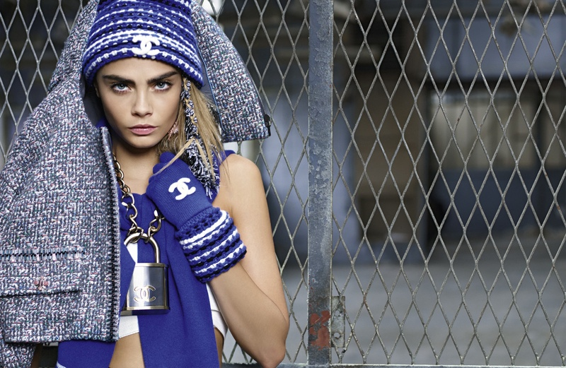 more photos from chanel�s fall 2014 ads with cara