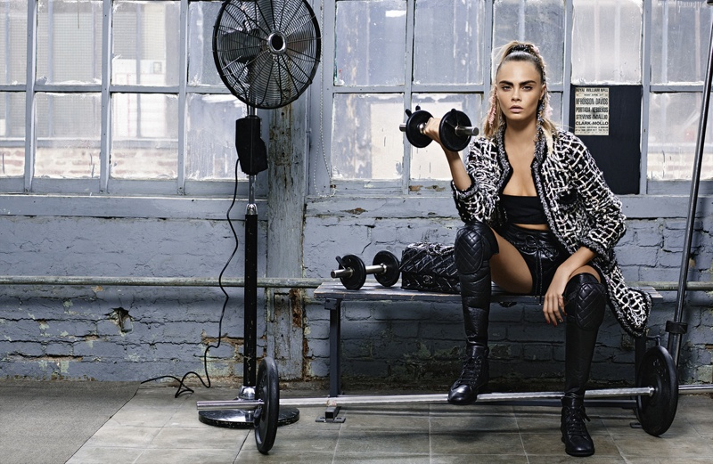 chanel fall winter 2014 ad photos cara delevingne8 More Photos From Chanel's Fall 2014 Ads with Cara Delevingne + Binx Walton