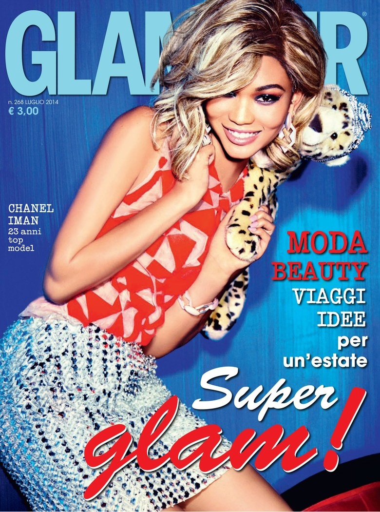 chanel iman blonde photos1 Chanel Iman Goes Blonde for Ellen Von Unwerth in Glamour Italia Shoot