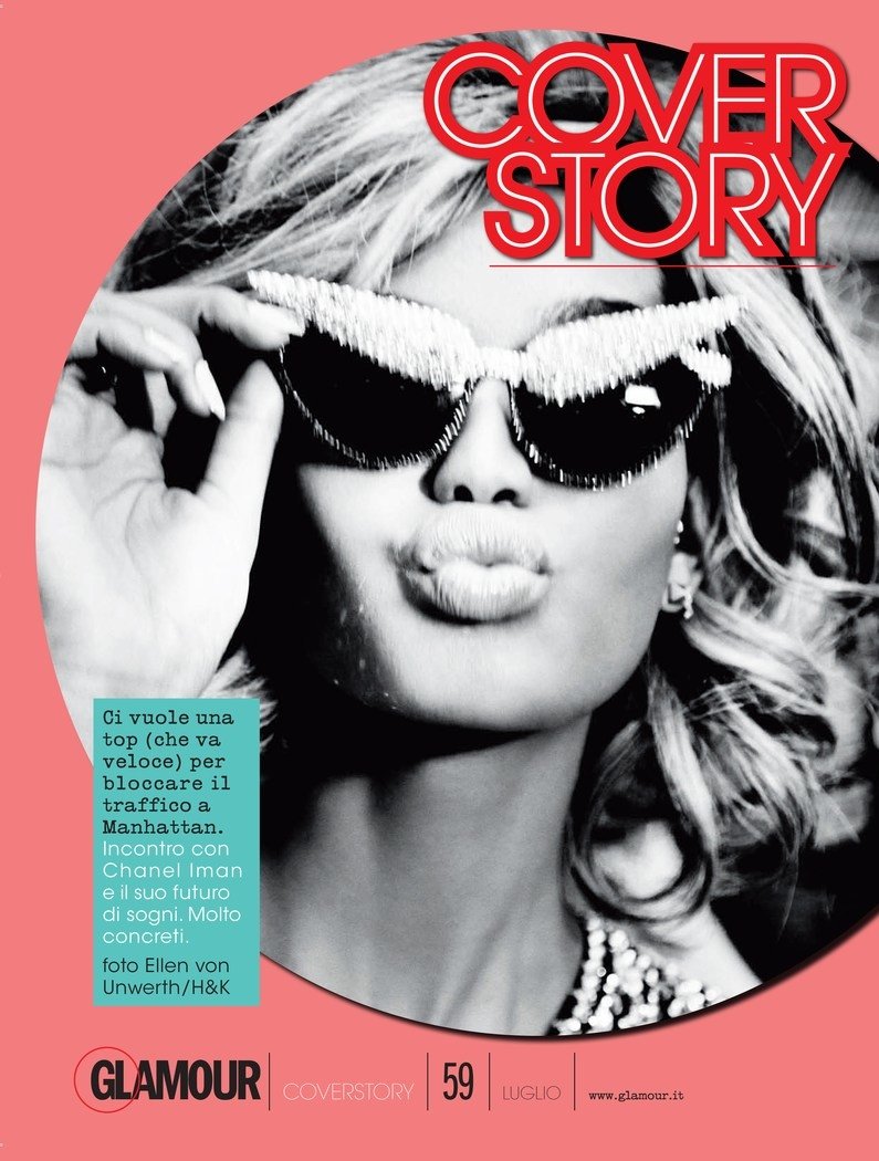chanel iman blonde photos3 Chanel Iman Goes Blonde for Ellen Von Unwerth in Glamour Italia Shoot