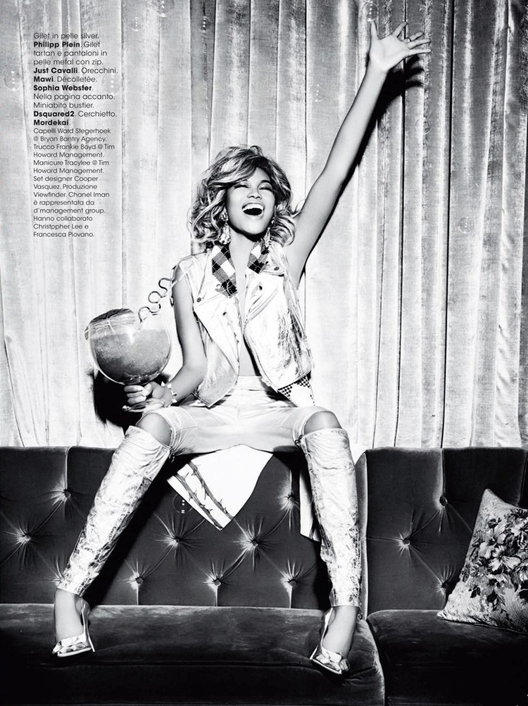 chanel iman blonde photos9 Chanel Iman Goes Blonde for Ellen Von Unwerth in Glamour Italia Shoot