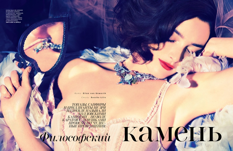 charlotte le bon photos1 Charlotte Le Bon is All About the Gems in Ellen Von Unwerth Shoot for Vogue Russia
