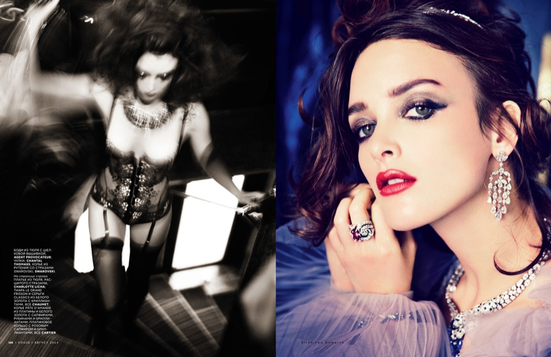charlotte le bon photos4 Charlotte Le Bon is All About the Gems in Ellen Von Unwerth Shoot for Vogue Russia