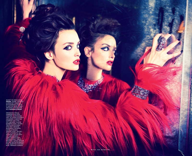 charlotte le bon photos8 Charlotte Le Bon is All About the Gems in Ellen Von Unwerth Shoot for Vogue Russia