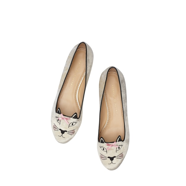 Hey Kitty! Charlotte Olympia Launches 'Kitty & Co' Collection Featuring Cat Flats