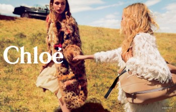 Preview: Chloe Fall 2014 Ads with Sasha Pivovarova + Andreea Diaconu