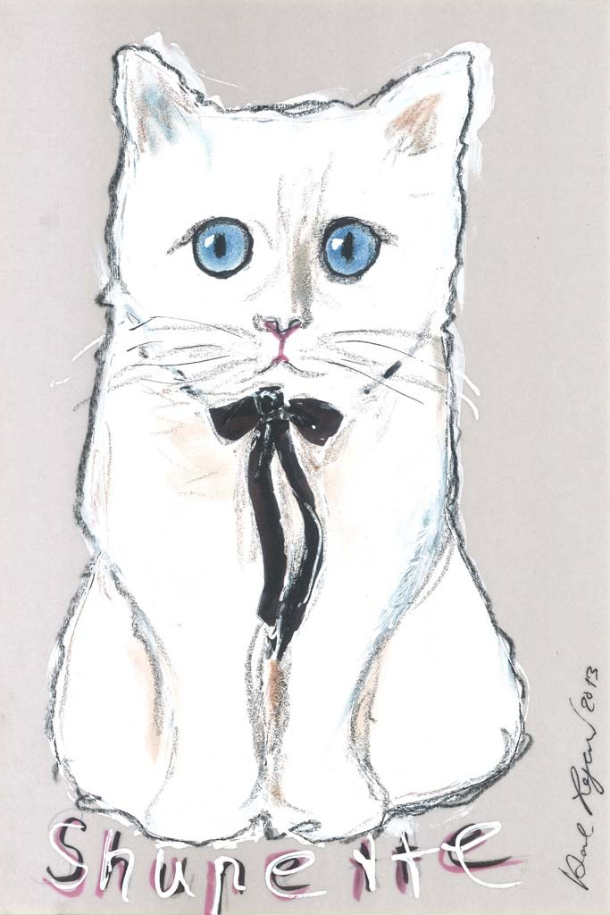 choupette drawing Karl Lagerfeld's Cat Choupette to Star in Holiday Makeup Ad for Shu Uemura