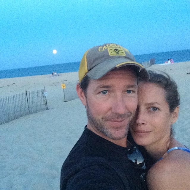 Christy Turlington shares a selfie with her husband Ed Burns