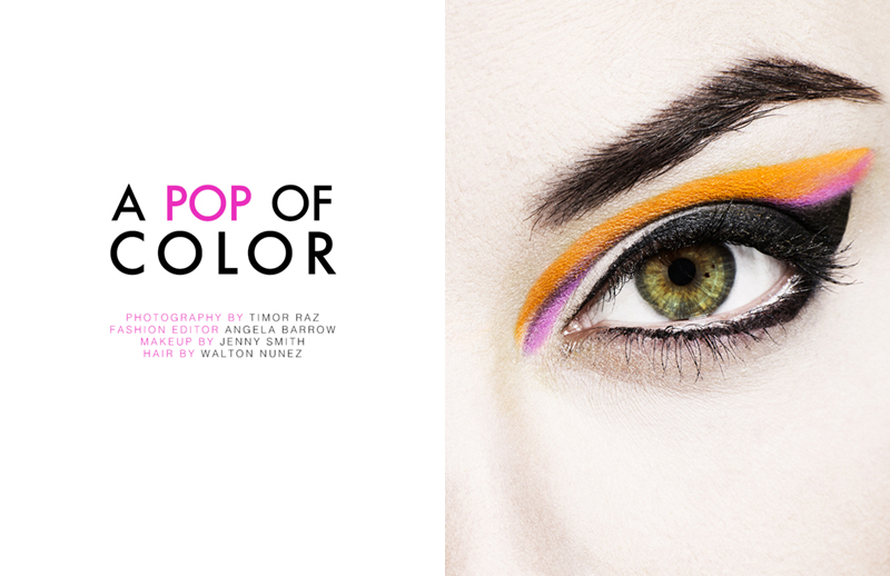color beauty title FGR Exclusive | Loni Ayers by Timor Raz in A Pop of Color