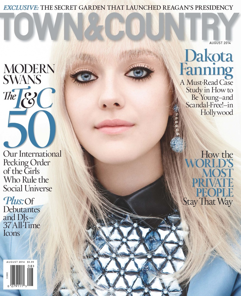dakota fanning 2014 shoot4 Dakota Fanning Stars in Town & Country, Talks Growing Up in the Spotlight