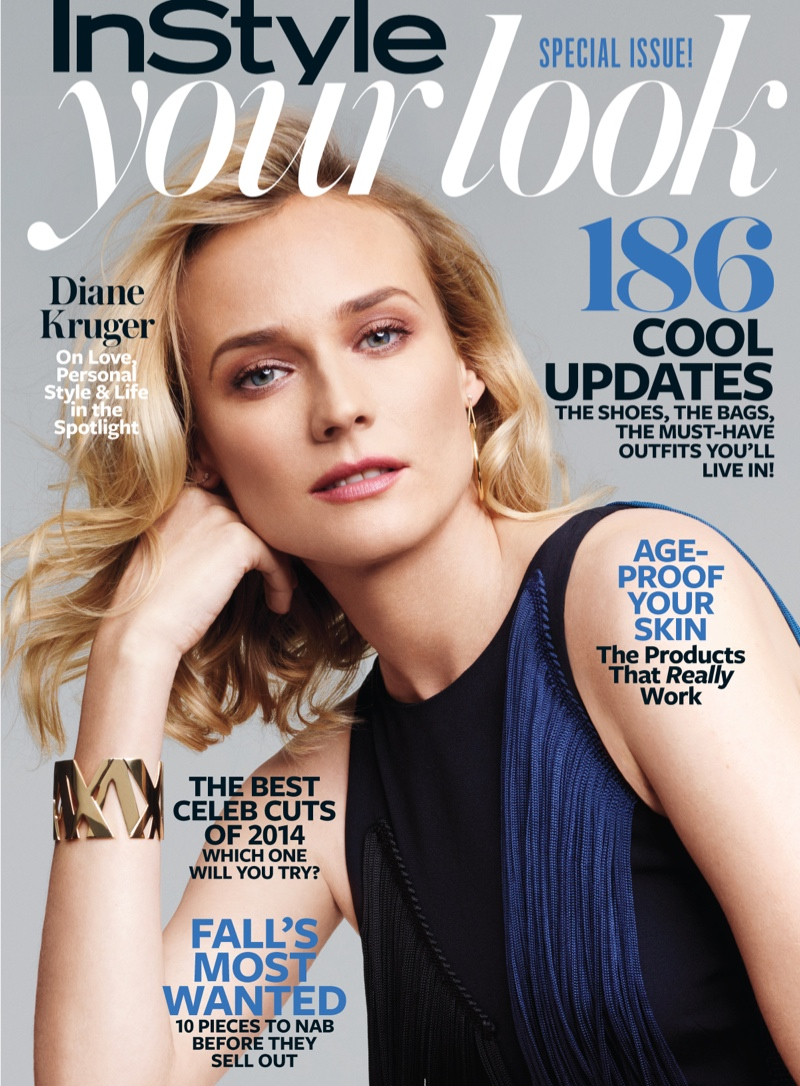 diane kruger pictures 2014 1 Diane Kruger Wears Ladylike Fashions for InStyle Feature by Horst Diekgerdes