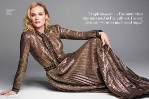 Diane Kruger Wears Ladylike Fashions for InStyle Feature by Horst Diekgerdes