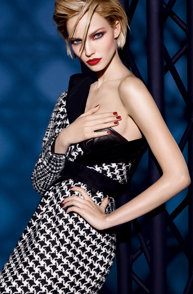 dior cosmetics fall 2014 makeup3 Sasha Luss is Red Hot for Dior Cosmetics' Fall 2014 Campaign