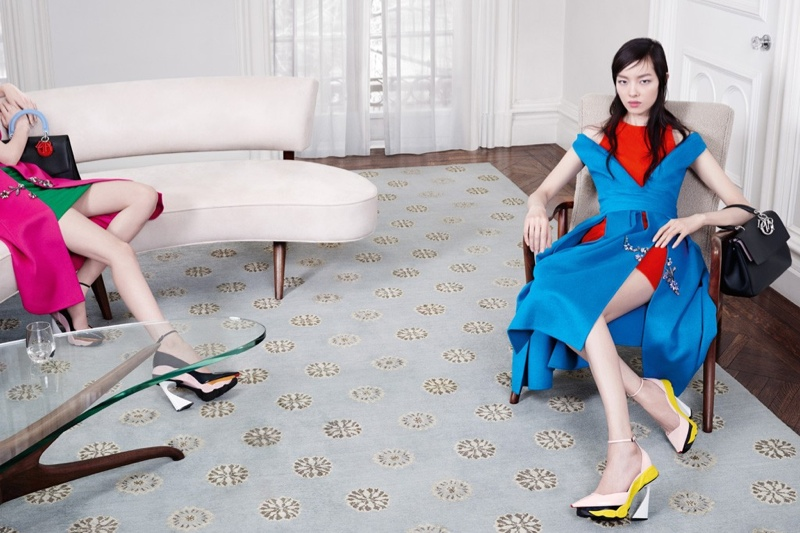 dior fall 2014 campaign1 Dior Features Sitting Ladies for Fall 2014 Campaign