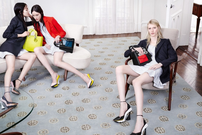 dior fall 2014 campaign2 Dior Features Sitting Ladies for Fall 2014 Campaign