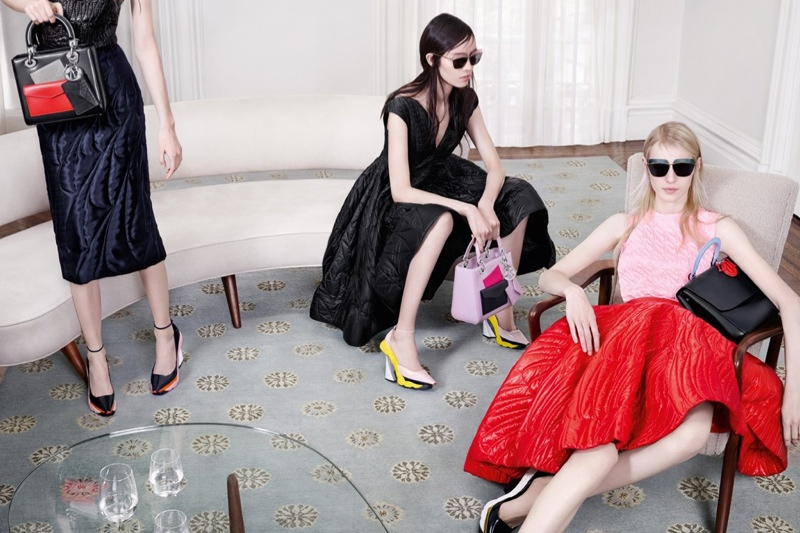 dior fall 2014 campaign3 Dior Features Sitting Ladies for Fall 2014 Campaign