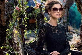 Bianca Balti is Back for Dolce & Gabbana's Fall 2014 Eyewear Campaign