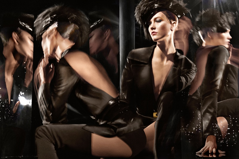 donna karan 2014 fall winter campaign1 Karlie Kloss Gets Moving for Donna Karan's Fall 2014 Campaign