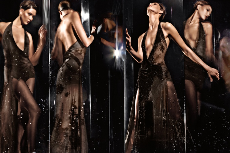 donna karan 2014 fall winter campaign2 Karlie Kloss Gets Moving for Donna Karan's Fall 2014 Campaign