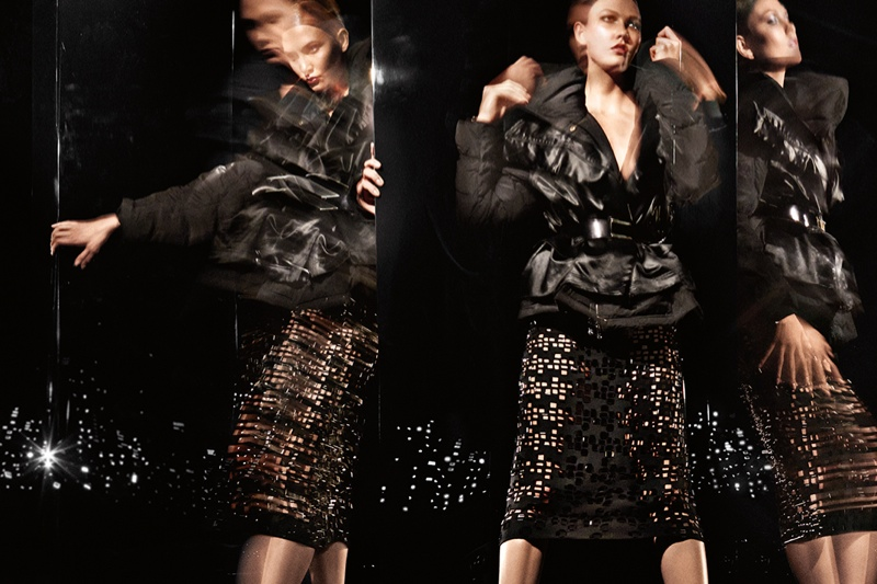 donna karan 2014 fall winter campaign3 Karlie Kloss Gets Moving for Donna Karan's Fall 2014 Campaign