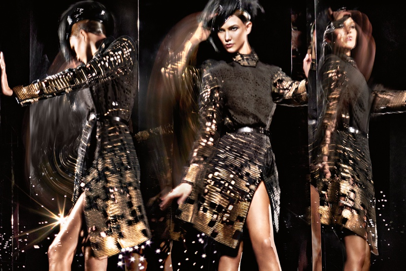 donna karan 2014 fall winter campaign4 Karlie Kloss Gets Moving for Donna Karan's Fall 2014 Campaign
