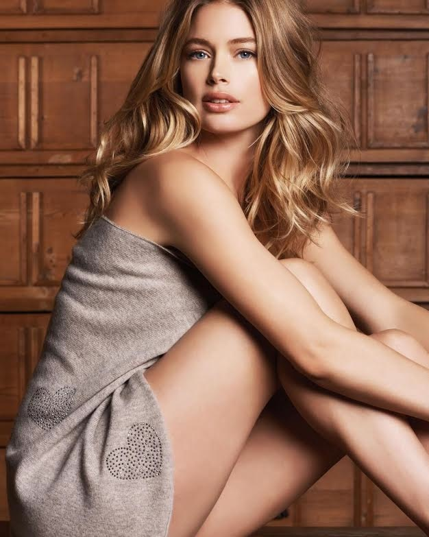 Doutzen Kroes Looks Comfortably Chic in Fall Ads for Repeat Cashmere