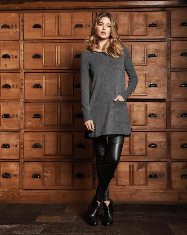 dotuzen kroes repeat cashmere 2014 fall campaign2 Doutzen Kroes Looks Comfortably Chic in Fall Ads for Repeat Cashmere