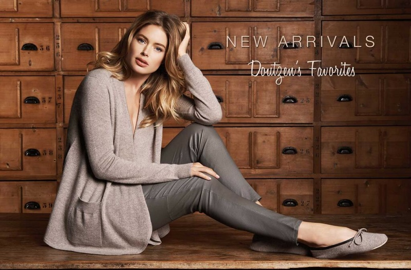 dotuzen kroes repeat cashmere 2014 fall campaign3 Doutzen Kroes Looks Comfortably Chic in Fall Ads for Repeat Cashmere