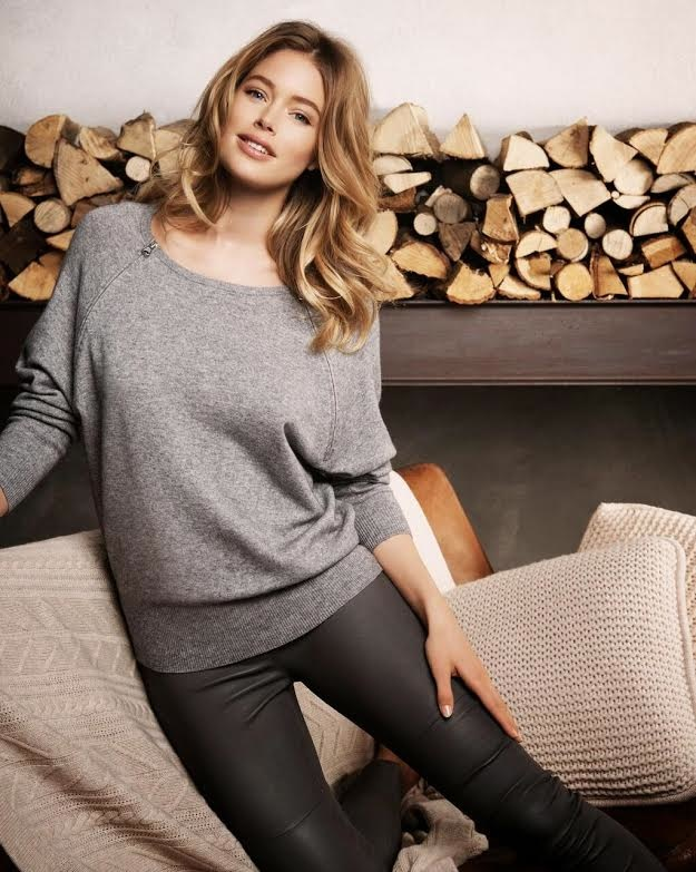 dotuzen kroes repeat cashmere 2014 fall campaign7 Doutzen Kroes Looks Comfortably Chic in Fall Ads for Repeat Cashmere