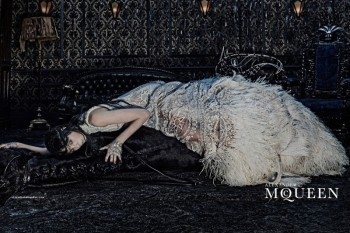 Edie Campbell Gets Equestrian for Alexander McQueen's Fall 2014 Campaign