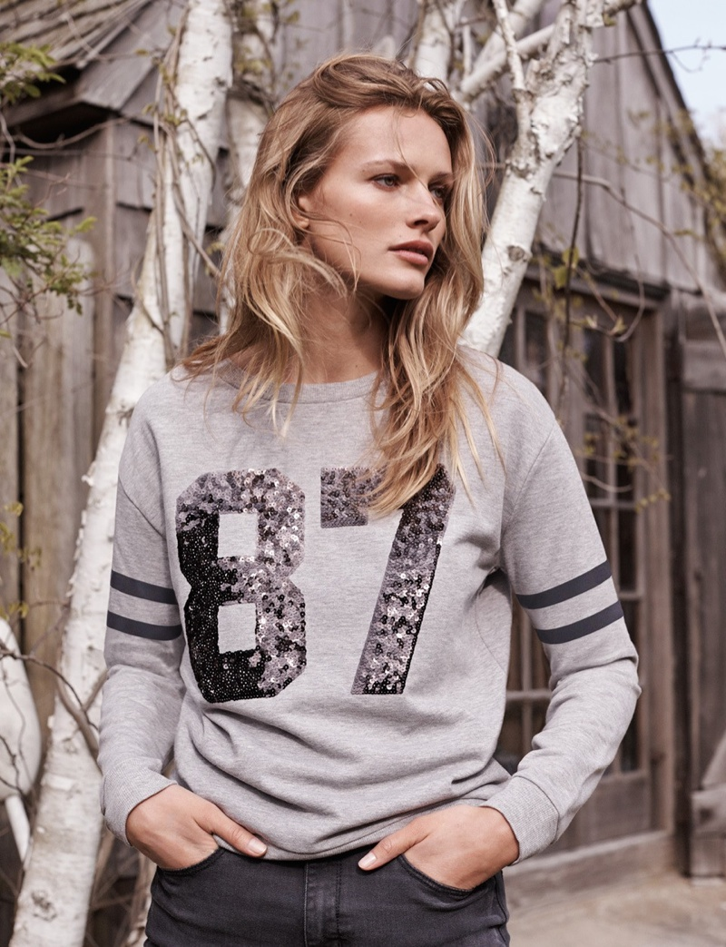 edita vilkeviciute mango 2014 shoot5 Edita Vilkeviciute Gets Casual Dressing Right for Mango Shoot