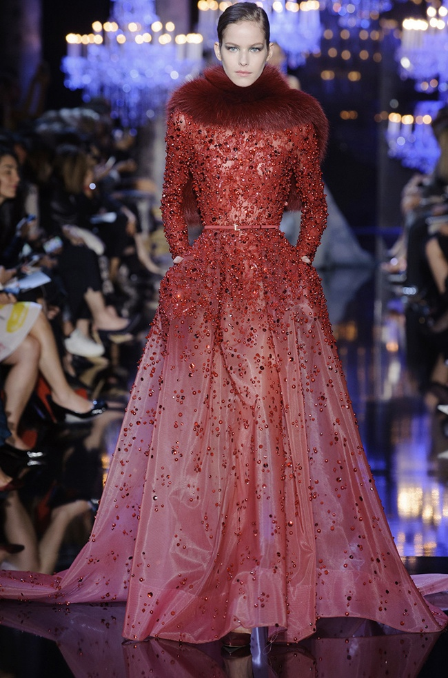 elie saab 2014 fall haute couture show20 Elie Saabs Fall Couture Collection is an Ode to the City of Light