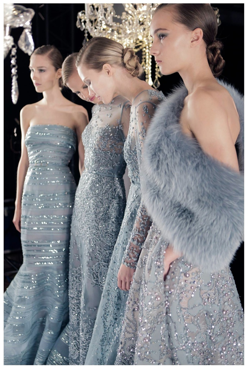 Closer Look: Backstage + Jewelry at Elie Saab's Fall Couture Show