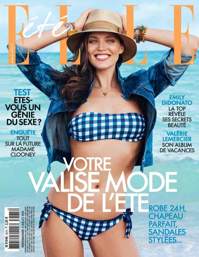 emily didonato beach shoot8 Splash!: Emily DiDonato is Beach Chic for Cover Shoot of Elle France