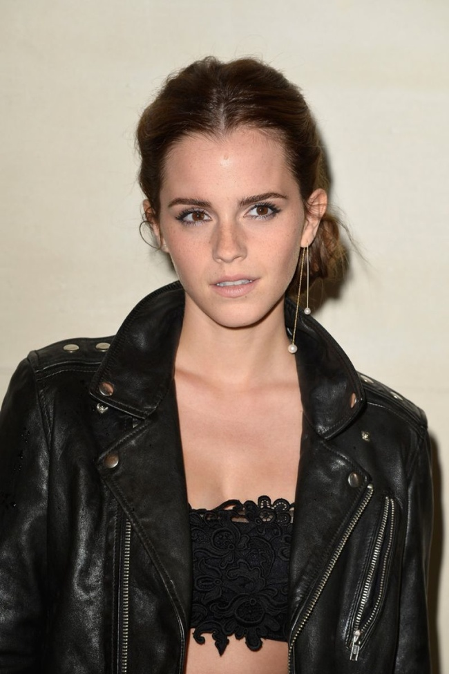 emma stone valentino jacket look2 Emma Watson in Head to Toe Valentino at Couture Fashion Week